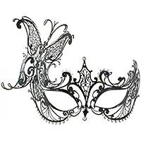 """La Fucina dei Miracoli, Máscara Veneciana En Filigrana De Metal Con Cristales de Swarovski® originales, """"Carina"""""""