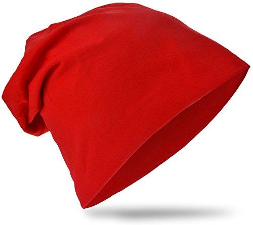Kinder Baby Jersey Slouch Beanie Long Mütze Unisex Unifarbe Baumwolle Trend - Mütze Rote Baby