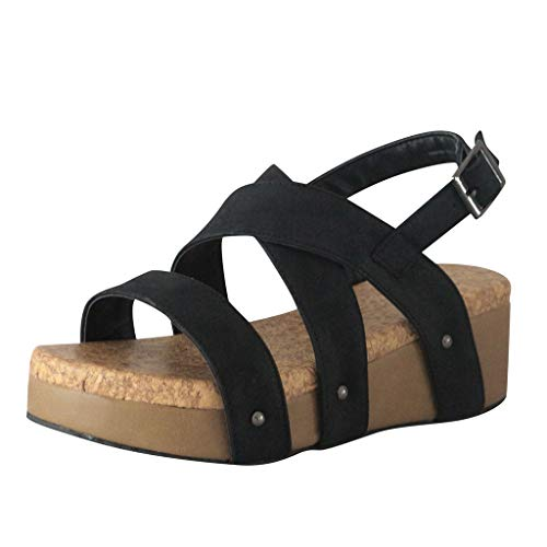 🍒🌸Eaylis Sommer Sandalen Damen Mit Absatz,Plattformplattform Mit Ferse