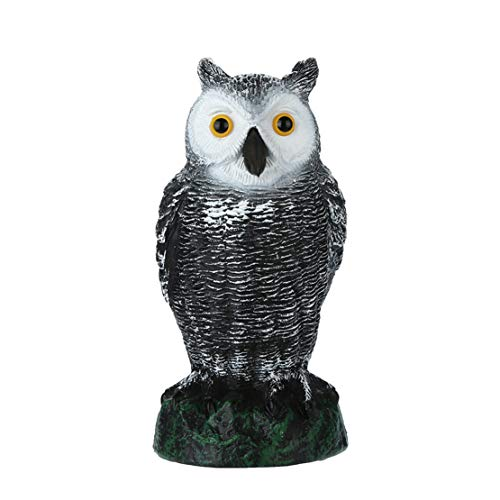 happy event Großer realistischer Owl Decoy Head | Unkraut Schädlingsbekämpfung Crow Scarecrow