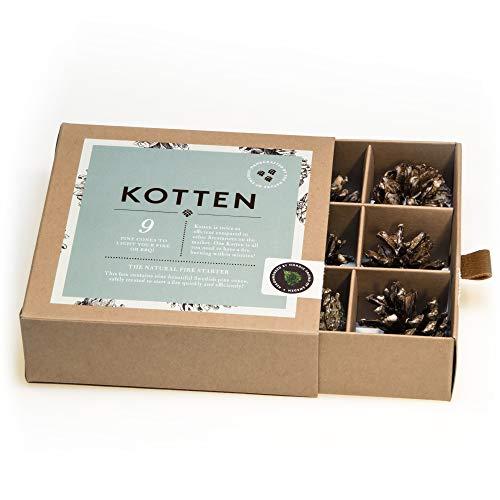 Caja conos pino Kotten encender fuego forma natural