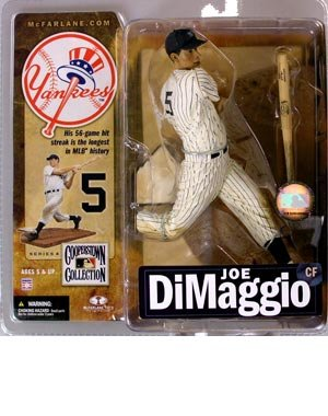 McFarlane Toys MLB Sports Picks Cooperstown Series 4 Action Figure Joe DiMaggio (New York Yankees) Pinstriped Uniform