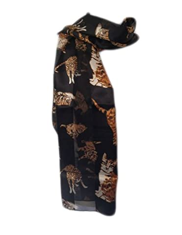 New Company Womens Cats and Kittens Scarf - Black -