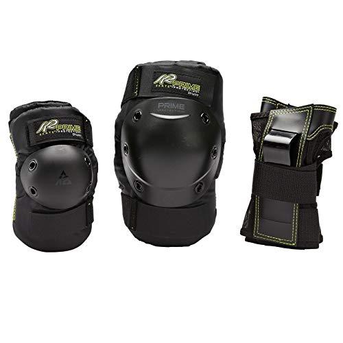 K2 Damen Inline Skates Schoner Prime W Pad Set, Knie-/Ellenbogen-Handgelenkschoner - Prodektoren Skateboard Schutzausrüstung, schwarz, S, 3041601.1.1.S