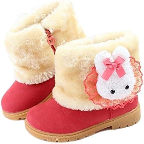 Eagsouni™ Bambine e Ragazze Carino Stivali da Neve Morbide Scarpe