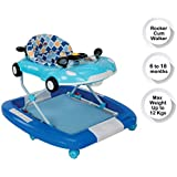LuvLap Sports Baby Walker & Rocker, Height Adjustable with Light & Musical Toys, 6m+ (Blue)