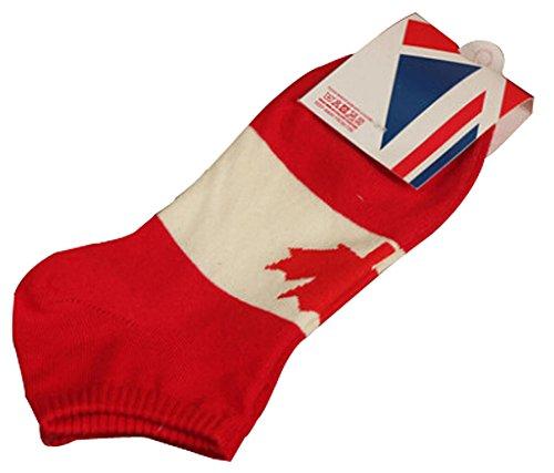 Lot de 2 Flag chaussettes en coton chaussettes pour hommes Canada