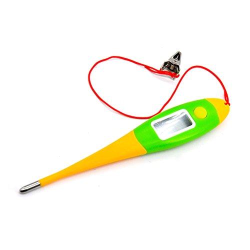 Haustier Thermometer UEETEK Digital Fieberthermometer für Haustier Hunde Tiere mit flexibler Spitze Schnur und Klammer