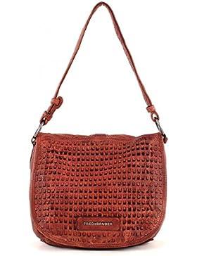FREDsBRUDER Salt Umhängetasche Damen Tasche Ledertasche Crossbody Bag Rot