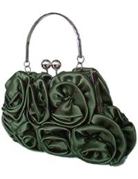 Damentasche,Abendtasche,Handtasche,Brauttasche,Hochzeit Clutch 20x12 cm,Grün,Olivgrün