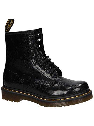 Dr. Martens 1460 QQ Flowers BLACK, Damen Combat Boots, Schwarz (Black), 40 EU (6.5 Damen UK) - Doc Martens Schwarz 1460 Stiefel