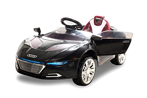 NEU Kinder Elektroauto Sportwagen Spyder A228 2 x 25 Watt Motor Elektro Kinderauto Kinderfahrzeug (schwarz)