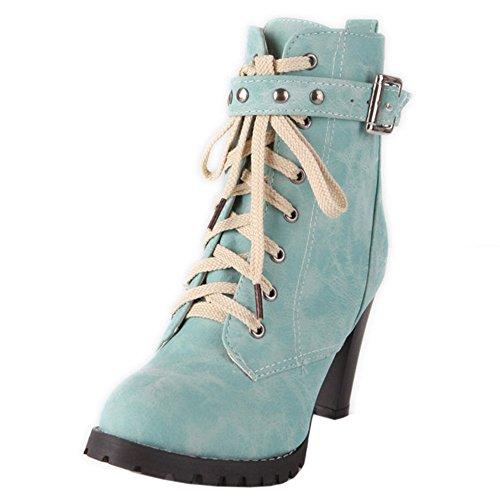 Curto Taoffen Azul Senhoras Ankle Clássico Laço Calcanhar Bloco xXWnTavP