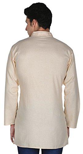 MapleClothing -  Kurta  - Maniche lunghe  - uomo Beige