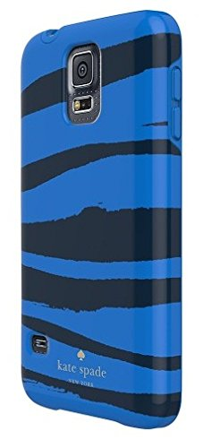 Kate Spade New York Hybrid Samsung Galaxy S5 Spannbettlaken Hard Shell Case Blau Zebra