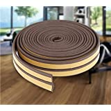 MMT Acoustix® Soundproofing, Dust Proof Door/Window Self Adhesive Door Seal Strip 18 ft Brown D Shape