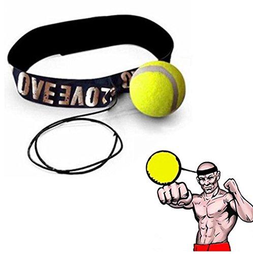 juego de accesorios para gimnasia professional grade fitness equipment Sannysis bolas barata ideal para practicar kick boxing quality adjustable boxing skipping speed for all exercises training (amarillo 01)