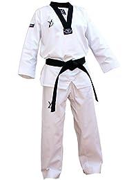 DOUBLE Y DESTINY Dobok Taekwondo col noir