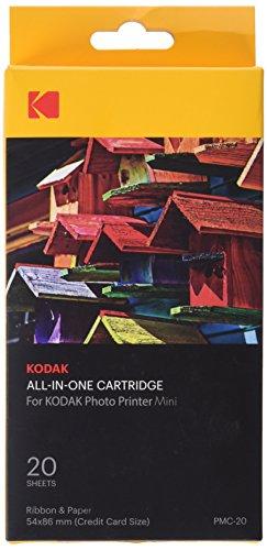 Kodak-Mini Fotodrucker-Patrone-PMC, ALLES-IN-EINEM Papier- und Farbtinten-Nachfüllpack - 20 Blätter Alle One One Photo Printer
