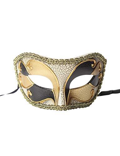 TAAMBAB Venezianische Maskerade Masken Klassische Cosplay Maske Abend Prom Kostüme Partyzubehör Weinlese Entwurfs Abschlussball Party Halloween Weihnachtskarnevals Karnevals Masken (Phantom Frauen Kostüm Oper Der)