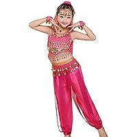 uirend Danza Abbigliamento Ragazza Gonne - Bambina Costumi di Ventre con  Paillettes Dancewear Latino Abiti Bambini 411d4f6acc23