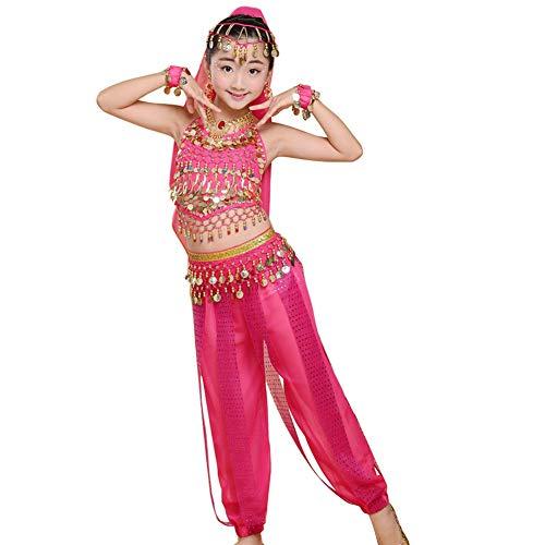 uirend Bekleidung Mädchen Röcke - Kinder Bauchtanz Outfit Kostüm Indien Dance Kleidung Top Professionelles Bauchtanzkleid (Professionelle Bauchtanz Kostüm Ägypten)