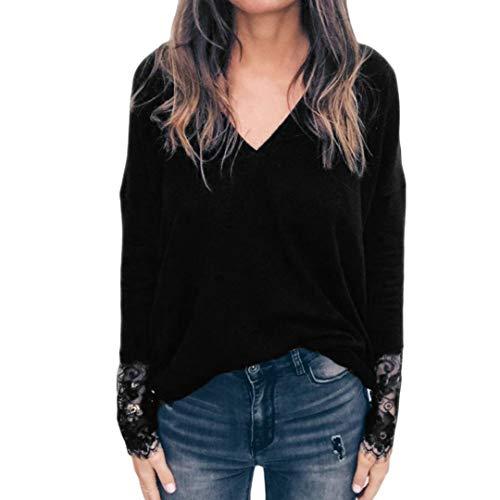 c4fb06c96ff273 Styledresser promozione Felpe Da Donna,Pullover Donna Bianco,Blusa Scollo A  V Con Scollo Av