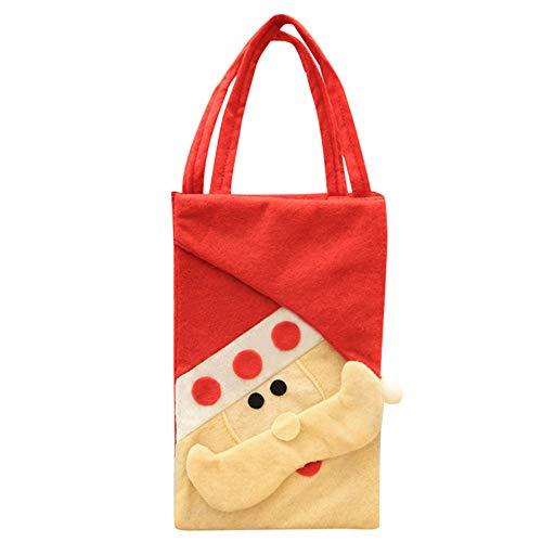(Baby Mädchen Jungen Cartoon Aufbewahrungsbeutel Single Handtaschen Bag, Kinder Weihnachten Santa Schneemann Cartoon Muster Tasche Candy Tasche Clutch, Weihnachten Dekoration Multicolor B)