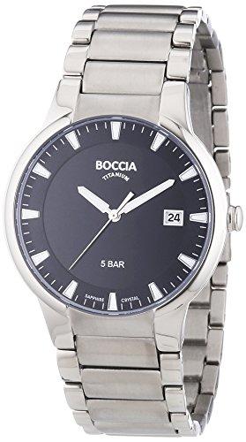Boccia Herren-Armbanduhr XL Analog Quarz Titan 3576-01