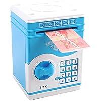 deAO Hucha Electrónica con Combinación - Caja de Seguridad con Contraseña Personalizada, Luces y Sonidos