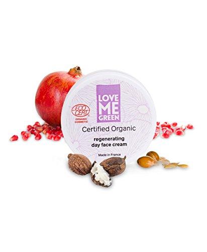 Organic certified organic regenerating day face cream, ohne Silikone oder Parabene, ECOCERT greenlife zertifiziert, made in France