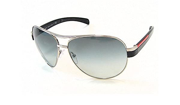 aab94d0bf31 PRADA SPS-50 Sunglasses Black   Silver 1BC-3M1 SPS50 Shades  Amazon.co.uk   Clothing