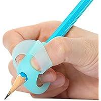 Elephant - Puños para lápices para niños, para escritura a mano, corrección, para lápices, lápices, soporte de ayuda, agarre y corrección de postura, kit de escritura de 1 juego (4 piezas), tres dedos