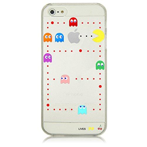 Phone Kandy® Mela chiaro / custodia rigida trasparente Case Cover Cartoon cartone animato (iPhone 7 (4.7 inch), Pac Man)