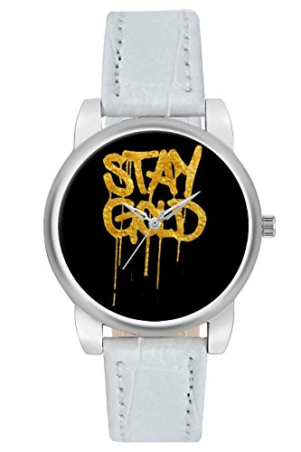 Women's Watch, BigOwl Stay Gold Illustration Designer Analog Wrist Watch For Women - Gifts for her dials
