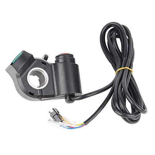Elektro-Bike-Drehregler, Digitale Spannungsanzeige Daumen Finger Shifter Gas für 12-99 V E-Bike Scooter Dreirad Ebike Zubehör -
