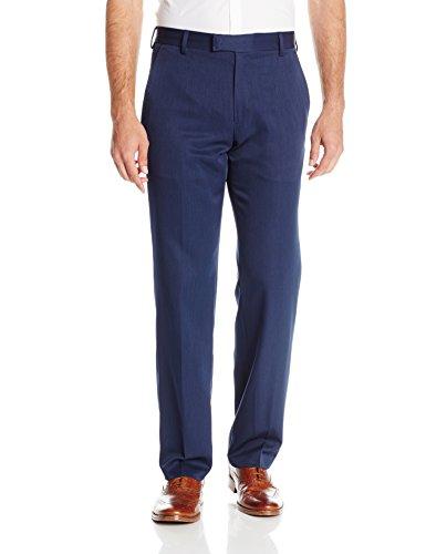 kenneth-cole-reaction-mens-urban-heather-slim-fit-flat-front-dress-pant-blue-34wx32l