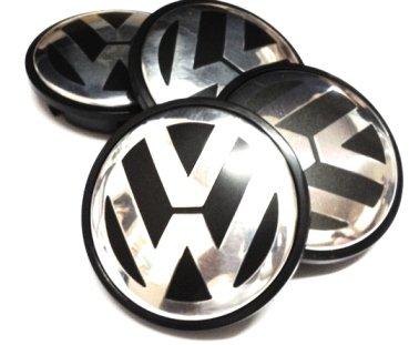 Volkswagen VW - Tappi per cerchi, in lega, 65 mm