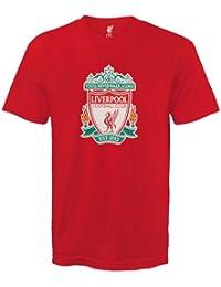 Liverpool FC Official Football Gift Mens Crest T-Shirt