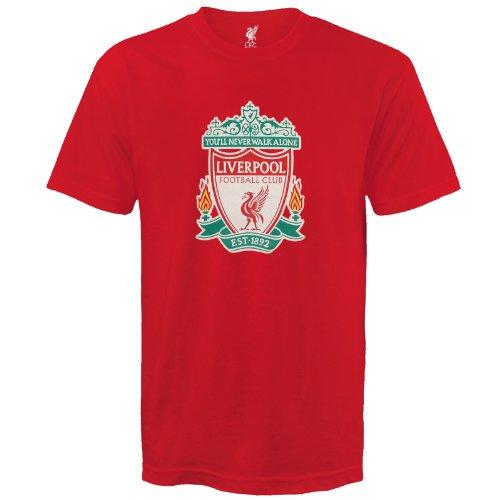 Liverpool FC - Camiseta oficial para hombre - Con el escudo del club - Rojo - XL