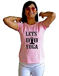 LetsFlaunt Lets Do Yoga T-shirt T-shirt Girls Pink Dry-Fit Nw