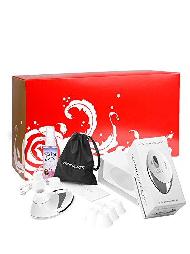 Womanizer Geschenkset: Womanizer Pro W500 chrome/weiß + Gleitgel + 5 Ersatzköpfe