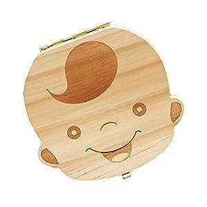 Demarkt Holz Milchzähne Box Kinder Jungen Prinz Zahnbox Zahndose Milchzahndose Zahndöschen Kinder Junge Milch Zähne Holz…