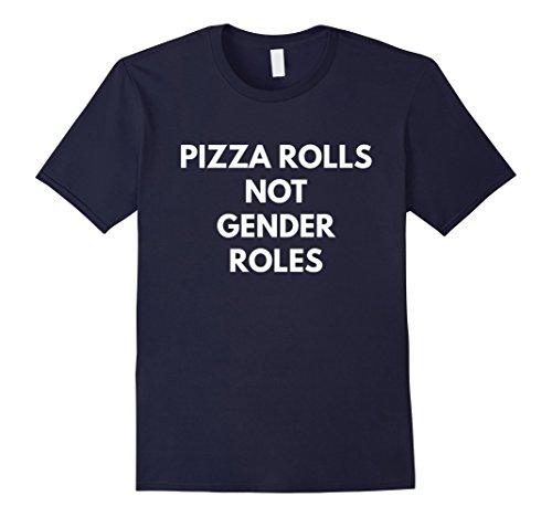 pizza-rolls-not-gender-roles-t-shirt-feminist-shirts-herren-grosse-m-navy