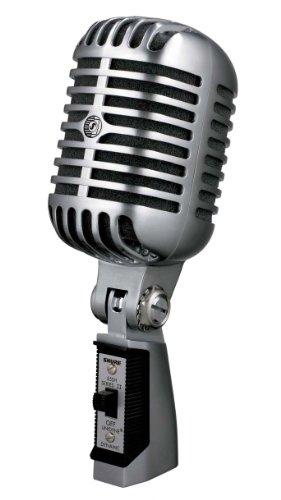 Shure 55SH - Micrófono dinámico (50 - 15.000 Hz, 150 ohms), color plateado