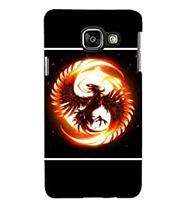 For Samsung Galaxy A5 (6) 2016 :: Samsung Galaxy A5 2016 Duos :: Samsung Galaxy A5 2016 A510F A510M A510Fd A5100 A510Y :: Samsung Galaxy A5 A510 2016 Edition dragon in fire, dragon, dragon circle, black background Designer Printed High Quality Smooth Matte Protective Mobile Case Back Pouch Cover by APEX