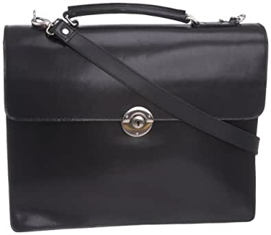 Leonhard Heyden Unisex Adult LH3131 Windsor Medium Briefcase Satchel Black