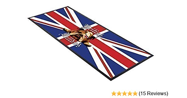 Personalised Bar Towel Runner Union Jack Pub Party Mat Beer Cocktail Gift