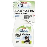 Flea Clear Bob Martin Transparente pulgas y garrapatas Spray para gatos y hogar, 300ml