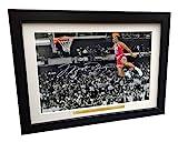 Photo de Michael Jordan encadrée avec autographe - A4 - 20 x 30 cm